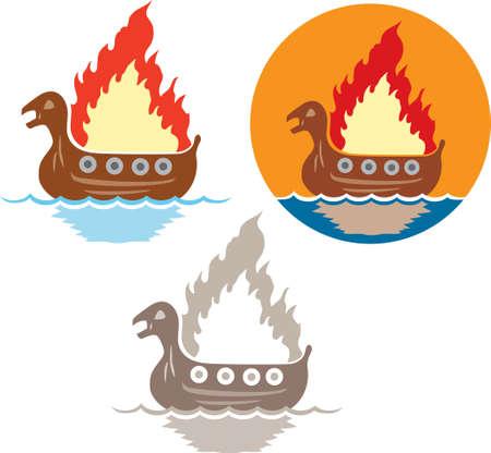 Viking begrafenis icoon