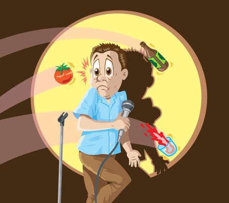 コメディアンの死  イラスト・ベクター素材
