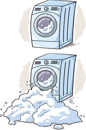 broken window: Washing Machine cartoon Illustration