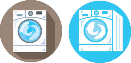 washing windows: Washing Machine icons Illustration