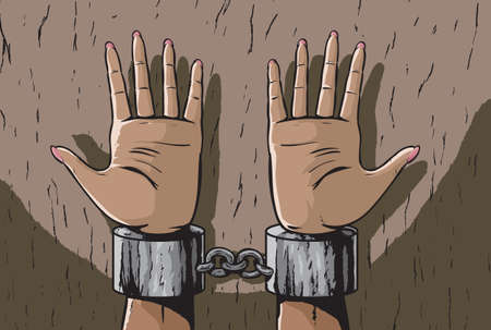 restraints: Woman in shackles