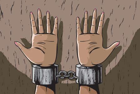 restraints: Woman in shackles