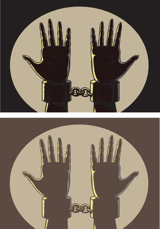 handcuffs woman: Outlined shackles