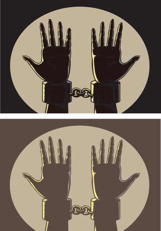 restraints: Outlined shackles