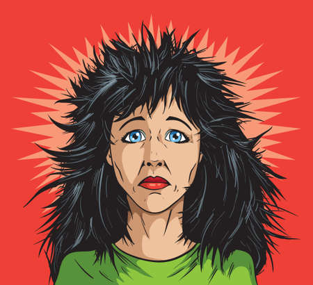 Bad hair day Vector