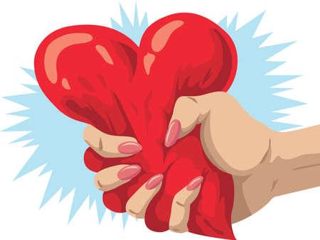 Herzensbrecher Vektorgrafik