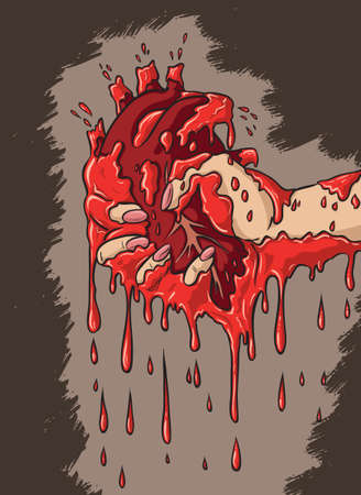 Ripped out heart