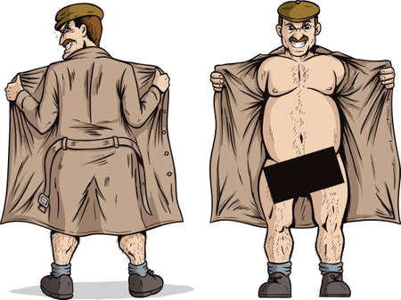 dirty man: Flasher