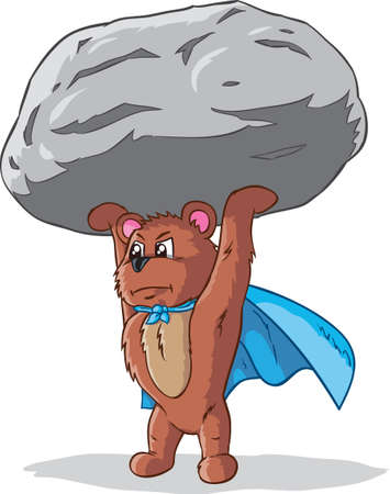 carrying out: Super lifting bear, part of a series