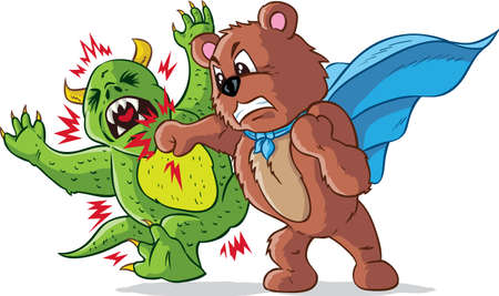 angry teddy: Punching bear, part of a series