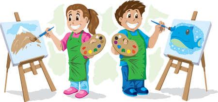 Kids painting Çizim