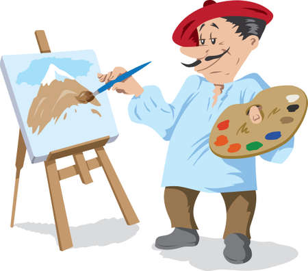 Traditional painter Vector