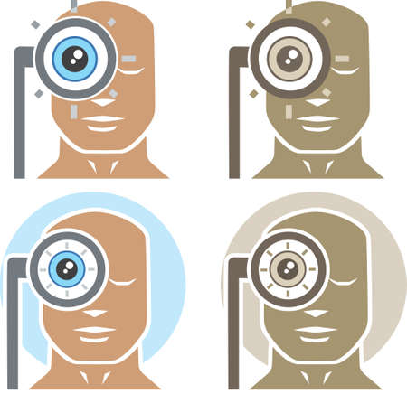 Eye examination Vector