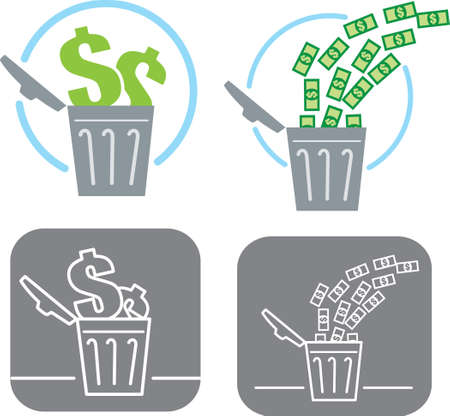 wasted: Wasting money icon