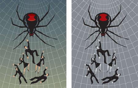 Gevangen in het web