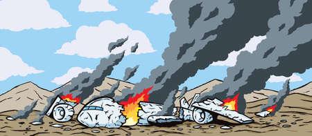 crashing: Crashed Airplane