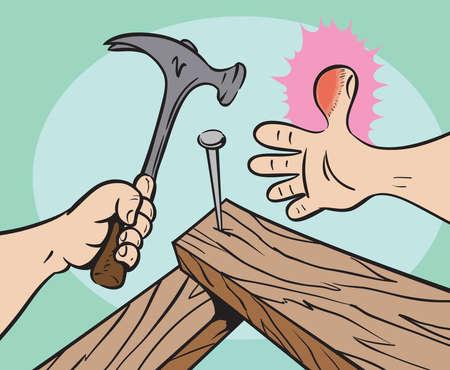 banging: Injured thumb
