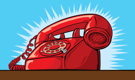 rotary dial telephone: Ringing Phone