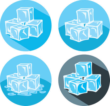 Ice cube icons Vector