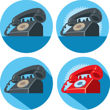telefon: Telefon dzwoni ikonę Ilustracja