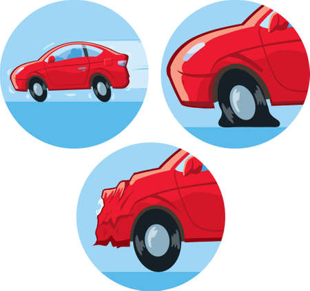 body damage: Car Accident Icon