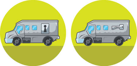 Armored car icon Vector