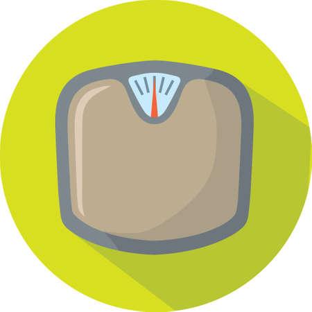 scale icon: Cute Scale icon Illustration