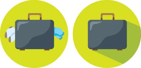 packing suitcase: Icona Valigia Vettoriali
