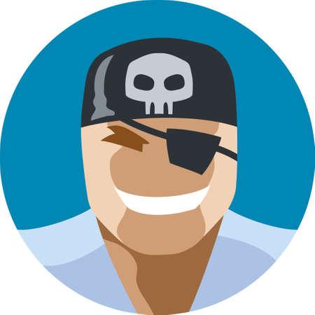 Pirate man icon