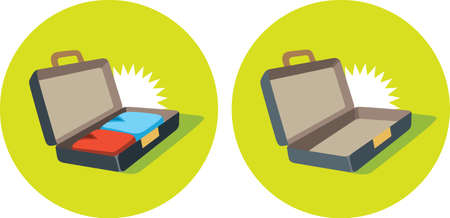 open suitcase: Open suitcase icon