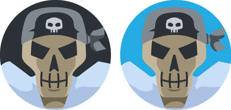 scoundrel: Pirate Skull icon Illustration
