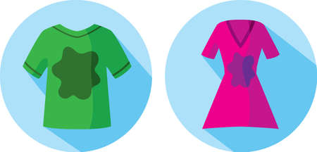 Stained clothes icon Vector