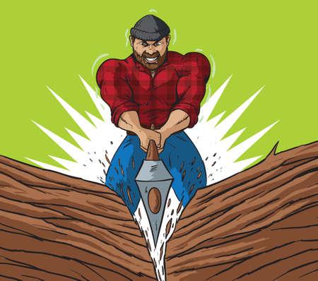 lumberjack shirt: Lumberjack chop