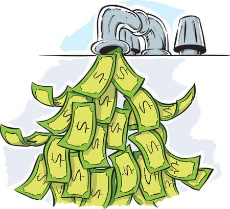 llave de agua: Dinero grifo Vectores