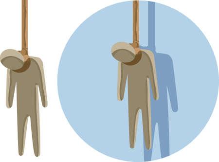 Hangman Icon Illustration