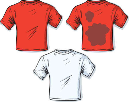 Stained t-shirt  Vector