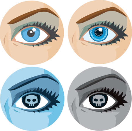 Variations of a girl s eye