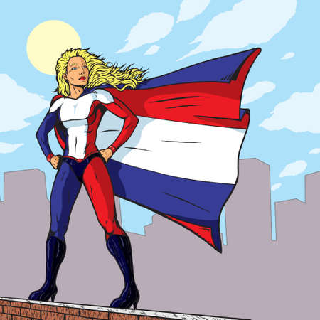 Super French Girl  向量圖像