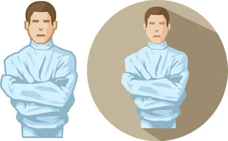 straight jacket: Straight Jacket Illustration