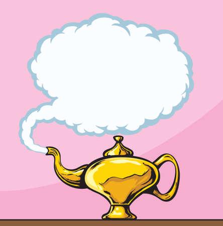 Magic Lamp  Illustration