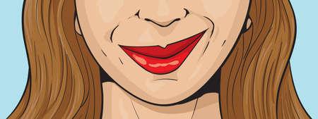 smirking: Smirking girl