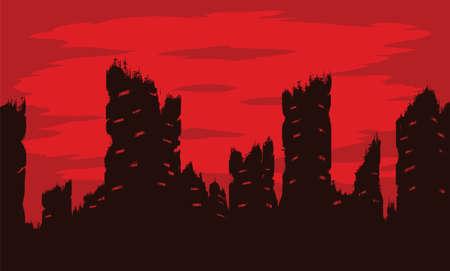wasted: Destroyed city Illustration