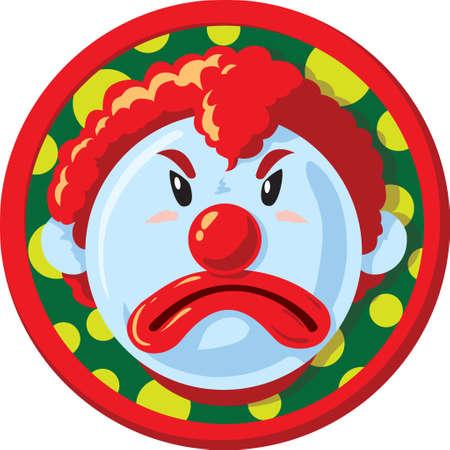 scowl: unhappy clown Icon  Illustration