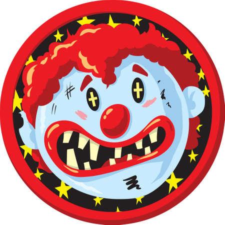 Crazy clown Icon  Illustration