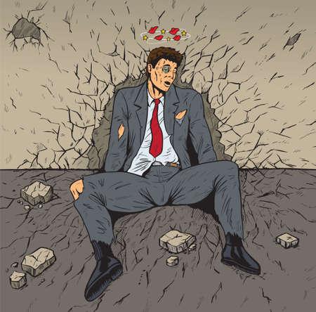 battu: Battu affaires Illustration