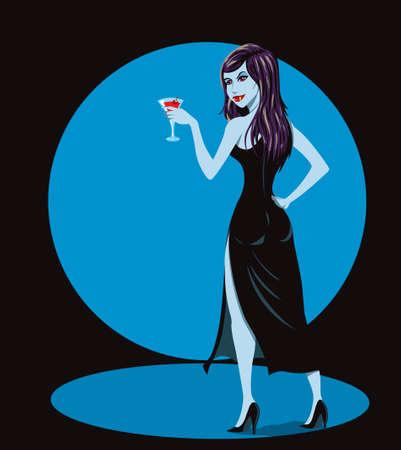 Vampire party 向量圖像