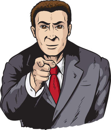 Business man pointing Vector