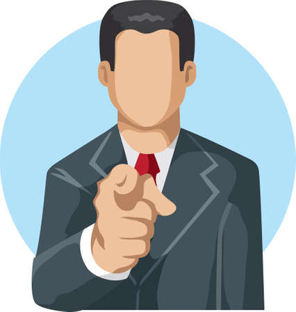 Pointing man icon Vector