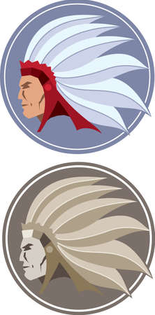 chieftain: Native American Icon Illustration