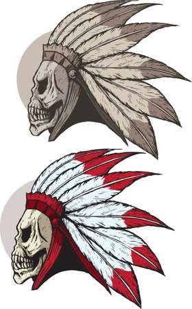 Undead Native American Vector